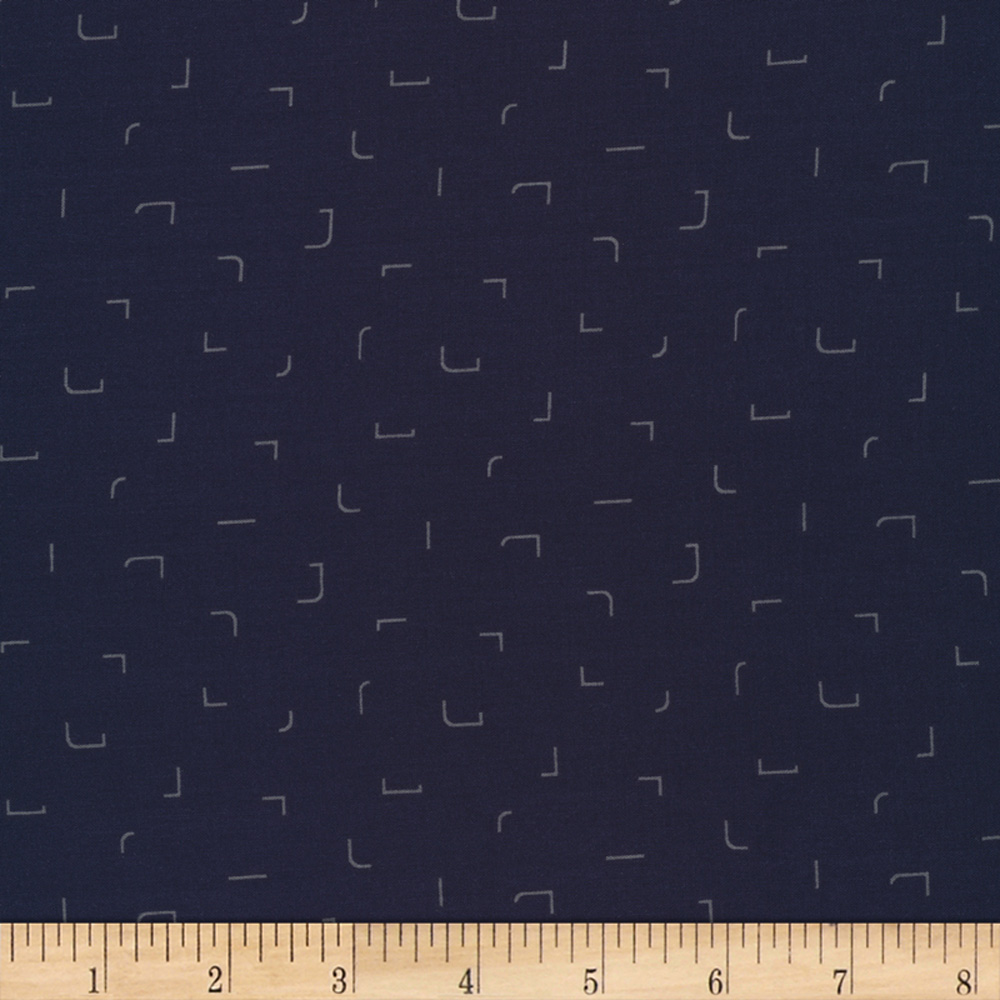 Cloud9 Fabrics Business Class Rayon Challis Coder Navy