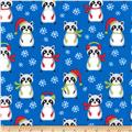 Kaufman Frosty Friends Raccoons Blue