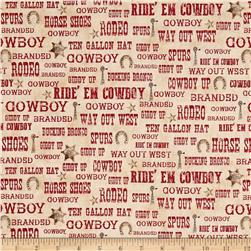 Ranch Hands Words Red