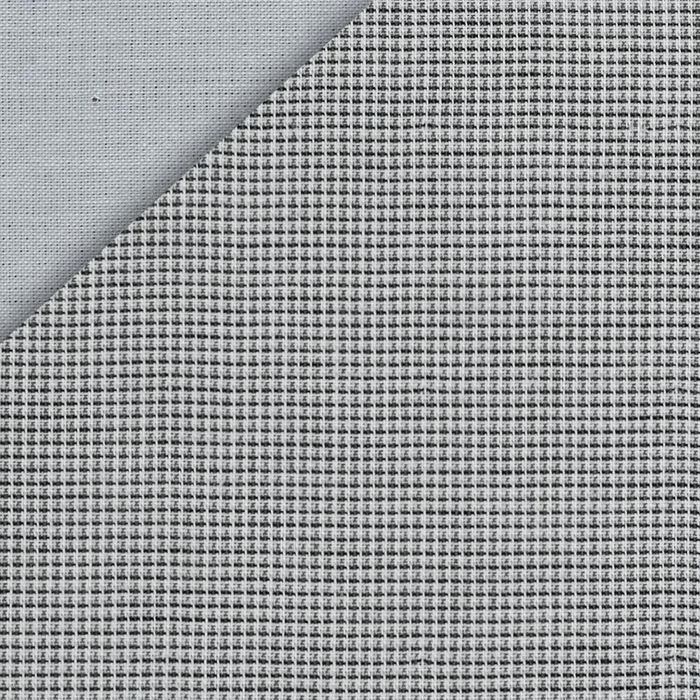 Kaufman Double Cloth Cotton Mini Check Grey