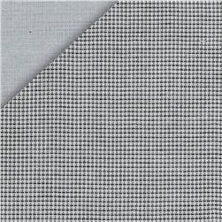 Kaufman Double Cloth Cotton Mini Check Grey Fabric