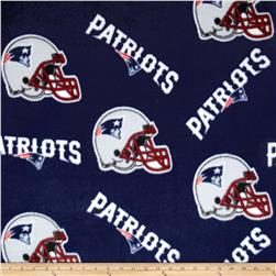 NFL Fleece New England Patriots Blue Fabric
