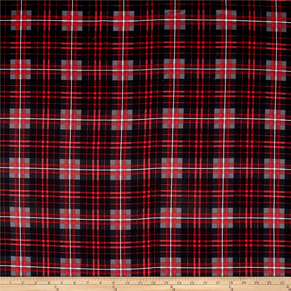 Timeless Treasures Oxford Flannel Tartan Plaid Charcoal Fabric