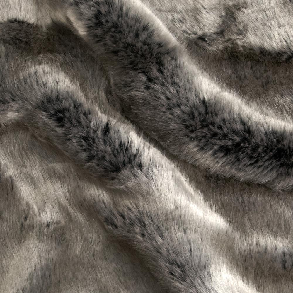 Tissavel Luxury Faux Volga Fur Metallic Silver
