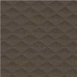 Sweden Quilt Knit Solid Brown