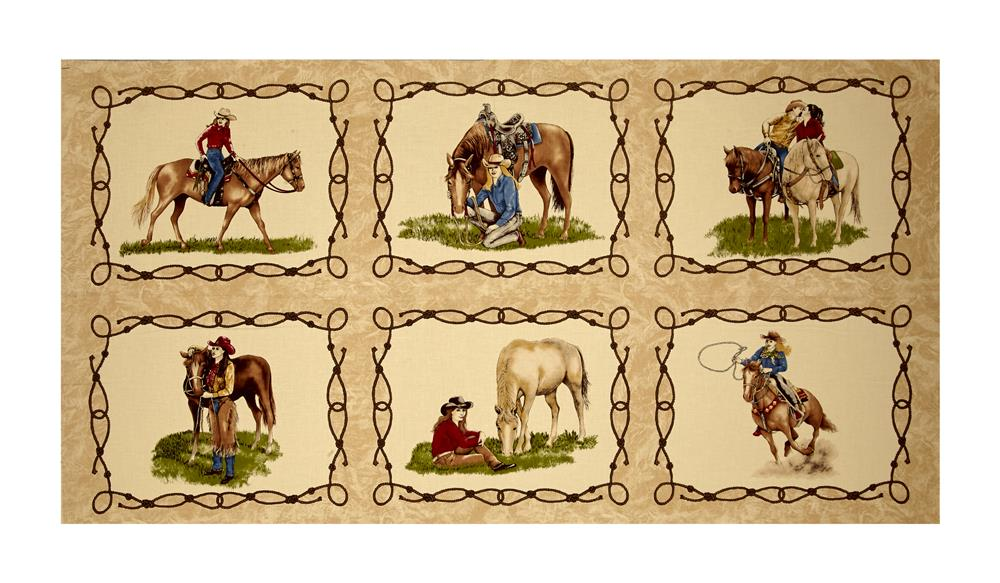 """Moda Cowgirl Country Cowgirl 23.5"""" Panel Suede"""