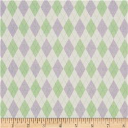 Mini Argyle Mint/Purple