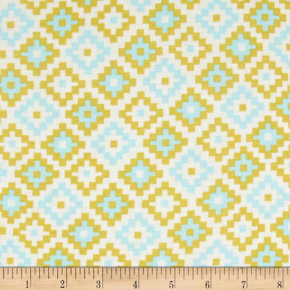 Riley Blake Cotton Jersey Knit Woodland Geometric Green Fabric