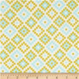 Riley Blake Cotton Jersey Knit Woodland Geometric Green