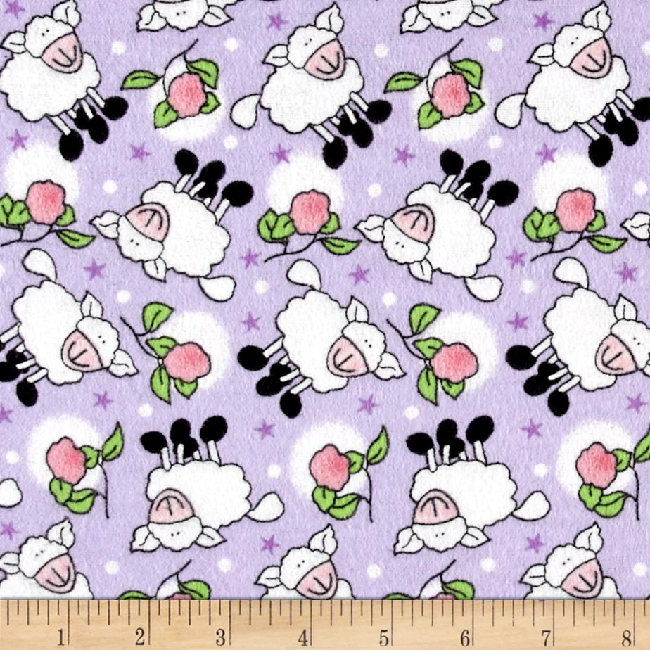 Rosy Sheep Flannel Lilac