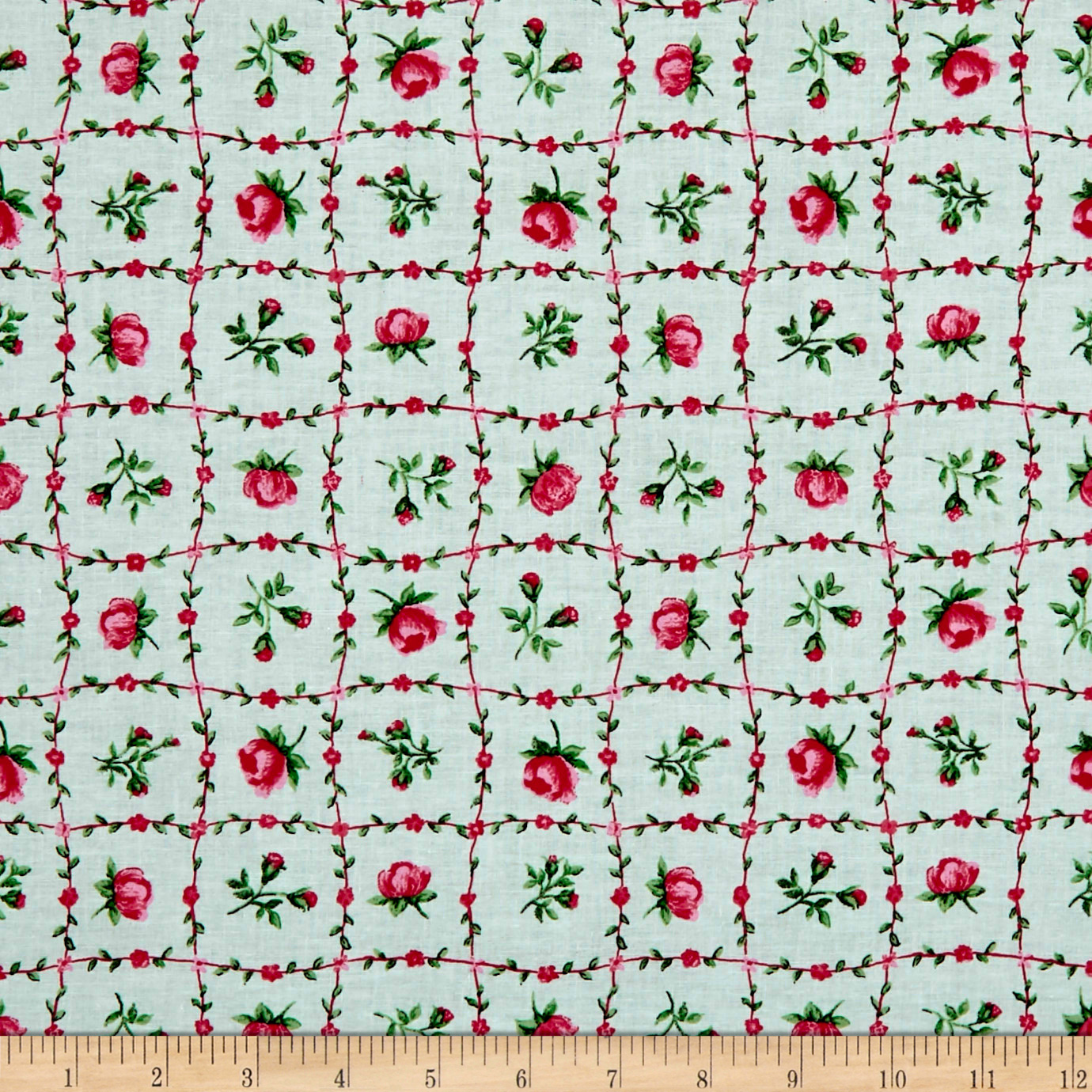 INOpets.com Anything for Pets Parents & Their Pets Botanical Garden Pink Fabric
