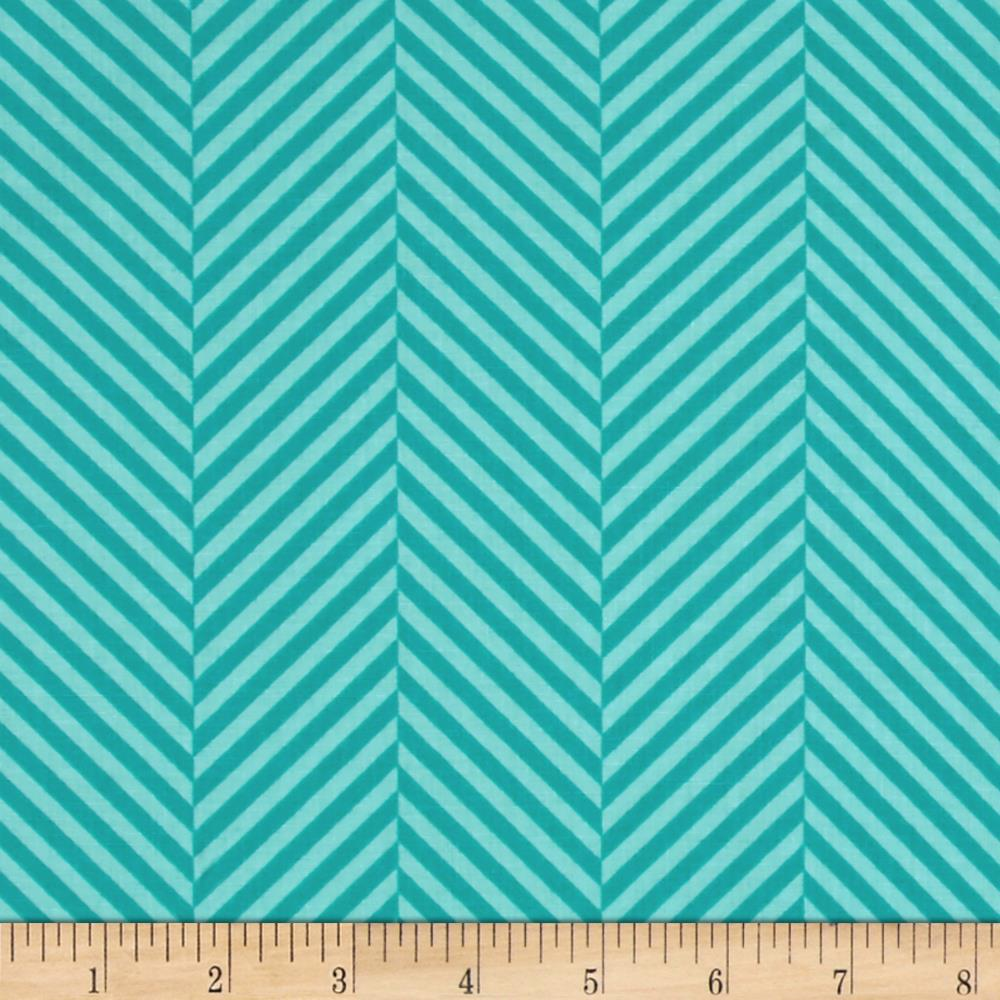 Moda Dot .Dot.Dash-! Stripe In A Stripe Turquoise