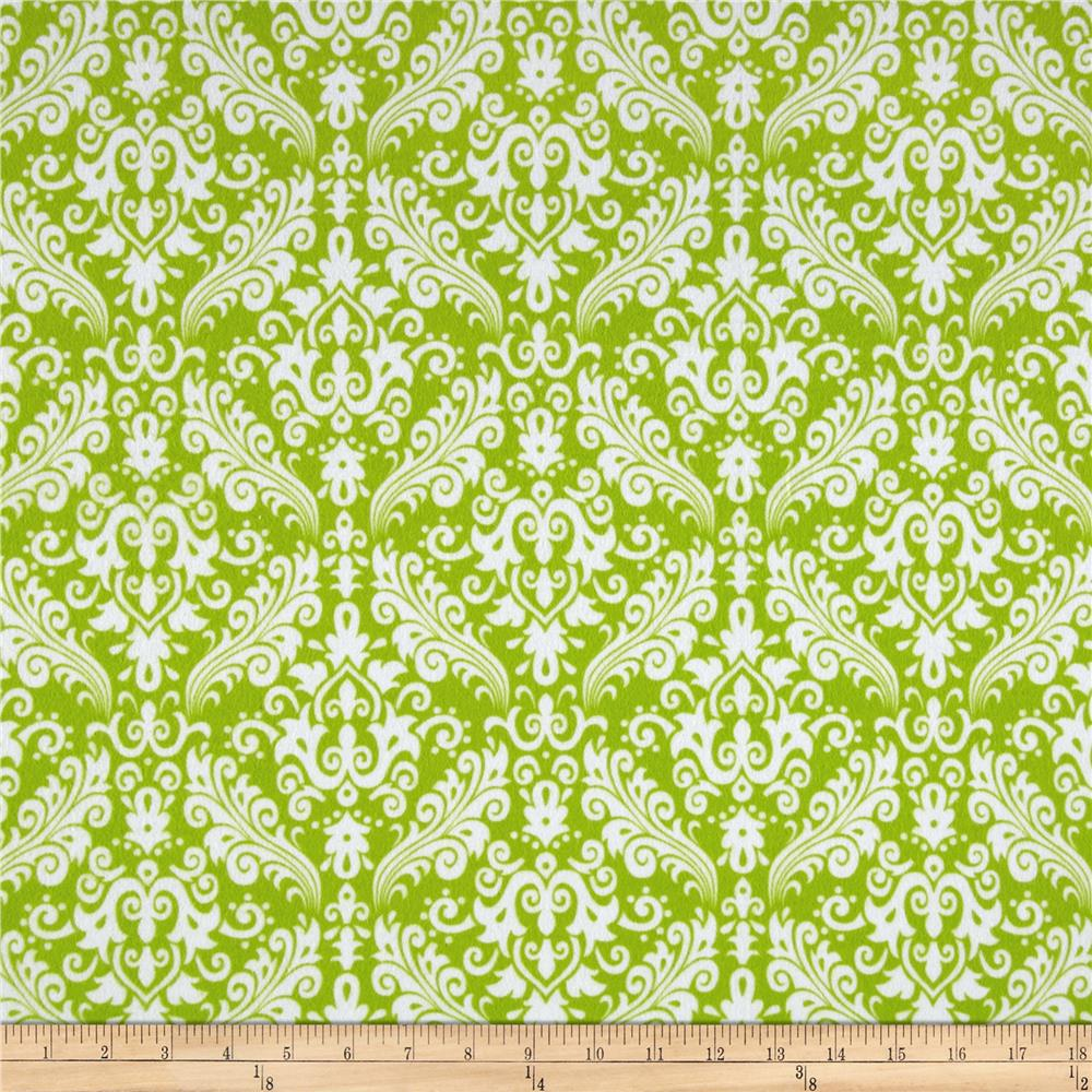 Riley Blake Flannel Medium Damask Lime