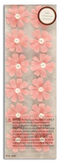 Martha Stewart Crafts 3 Dimensional Stickers Cosmos Pink