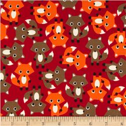 Kaufman Cool Cords Foxes Red
