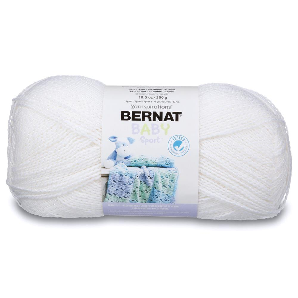 Bernat Big Ball Baby Yarn White Sparkle