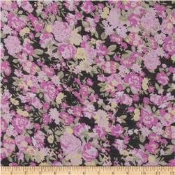 Jonquil Shirting Floral Pink/Black
