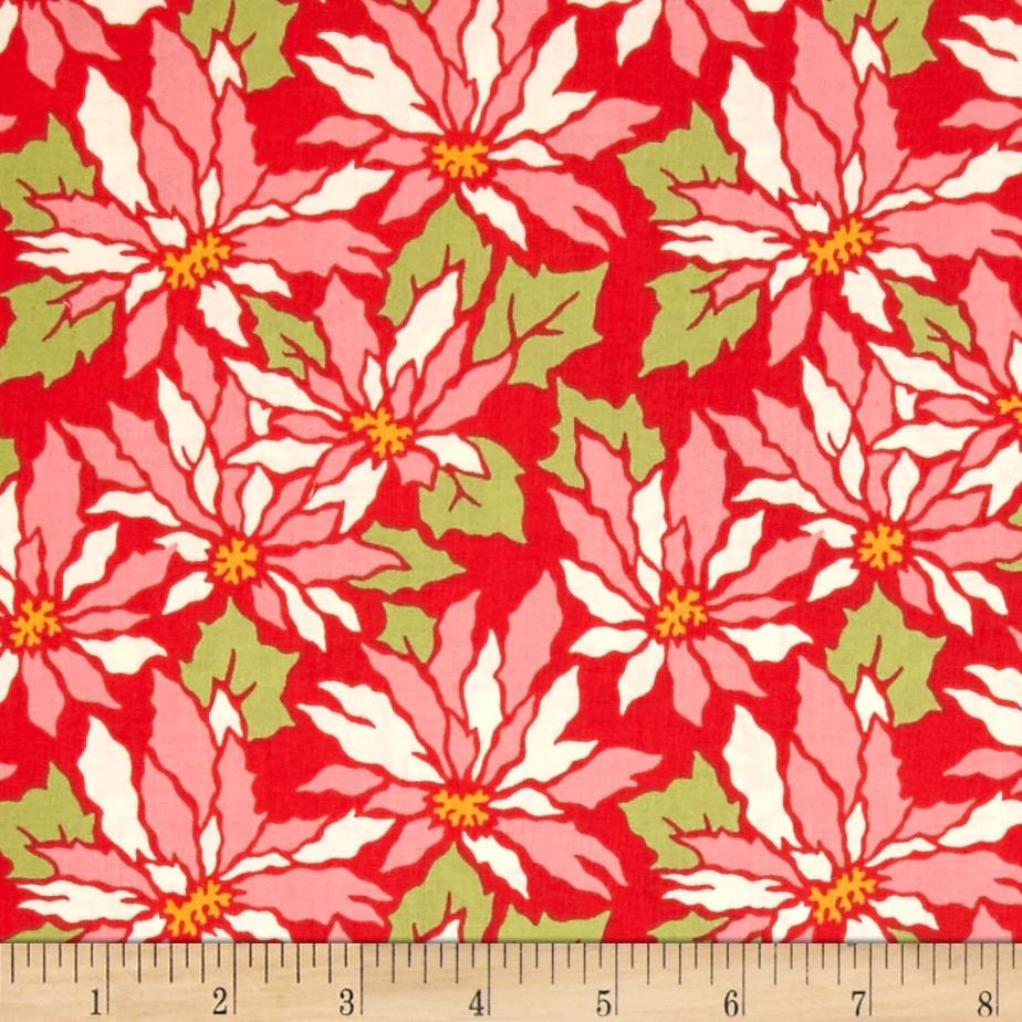 Heather Bailey Ginger Snap Poinsettia Red