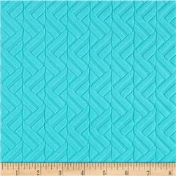 Liver Pool Double Knit Chevron Embossed Turquoise