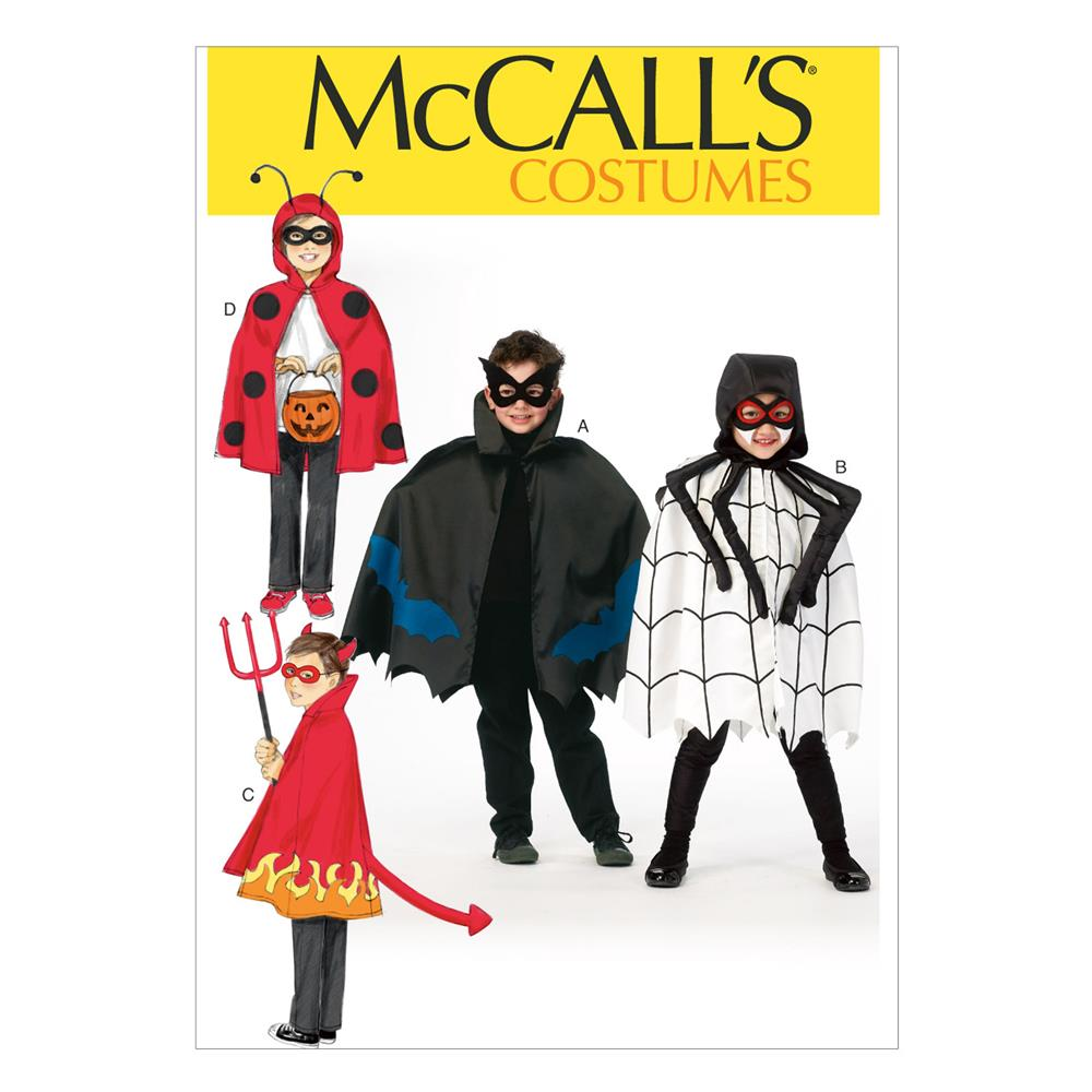 McCall's Children's/Boys'/Girls' Costumes Pattern M6998 Size KID