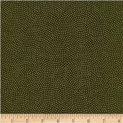 Timeless Treasures Dreaming in Pearle Dots Olive