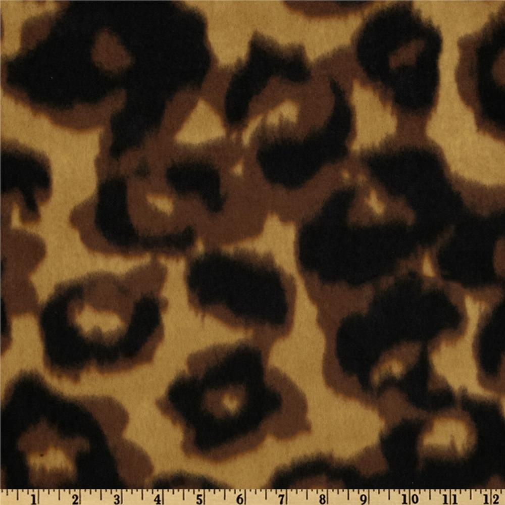 Novelty Fleece Leopard Brown