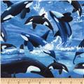 Timeless Treasures Orcas Blue
