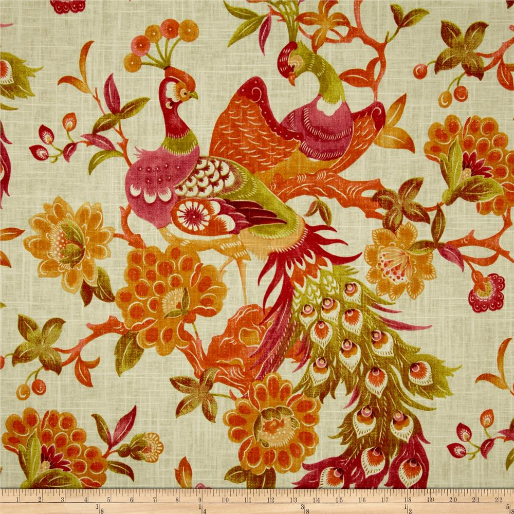 Richloom Preen Blend Papaya Discount Designer Fabric