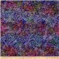 Kaufman Artisan Batiks Tiger Fish Seaflower Purple
