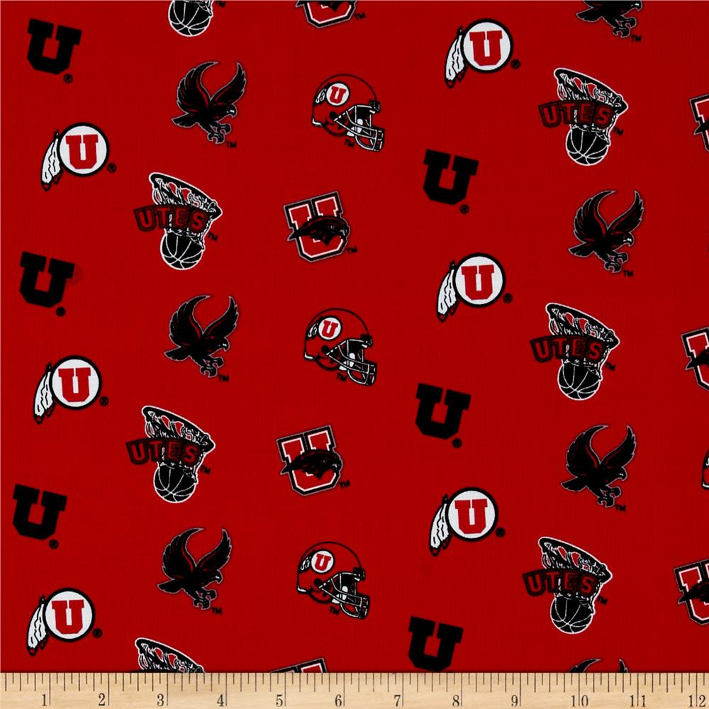 Collegiate Cotton Broadcloth University of Utah Red