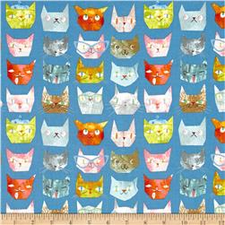 Smarty Cats Faces Blue