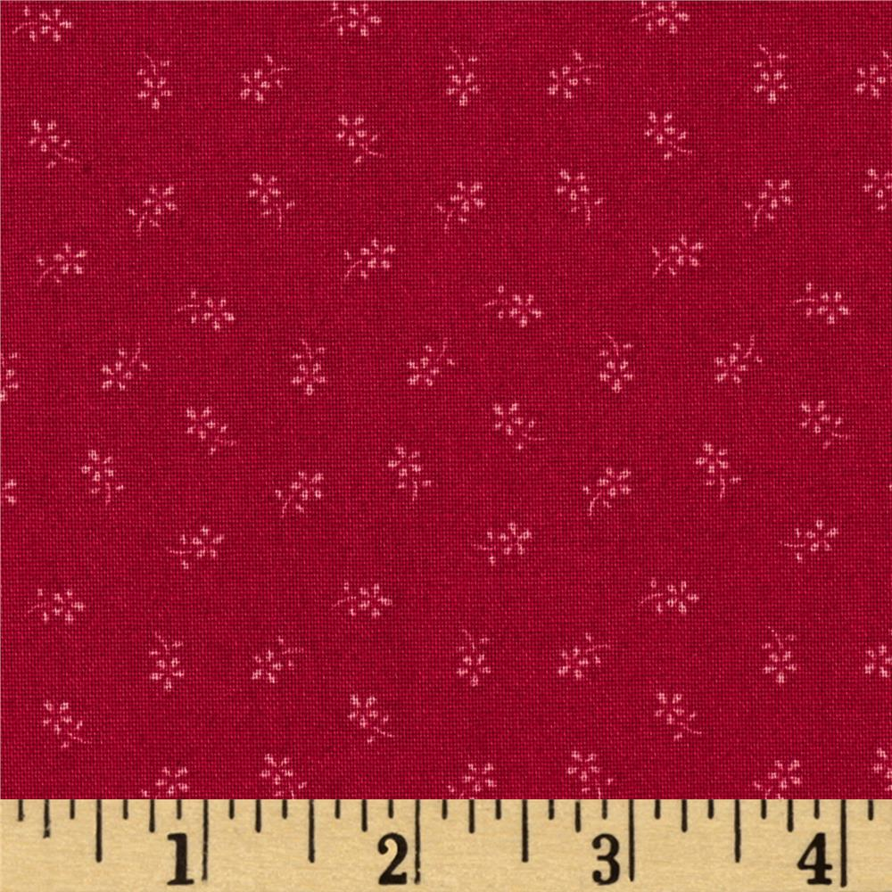Candy Cane Small Flower Red