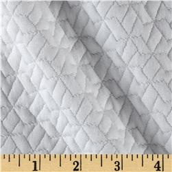Quilted Liverpool Double Knit Geo White