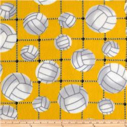 Volleyball Sports Fleece Yellow