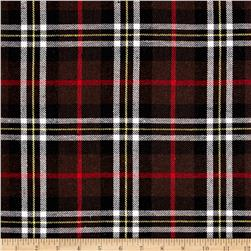 Yarn Dyed Plaid Flannel Red/Brown/White