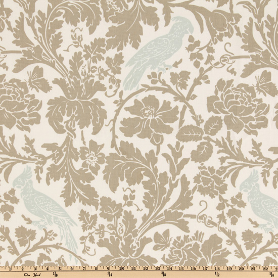 Premier Prints Barber Taupe/Robin Fabric