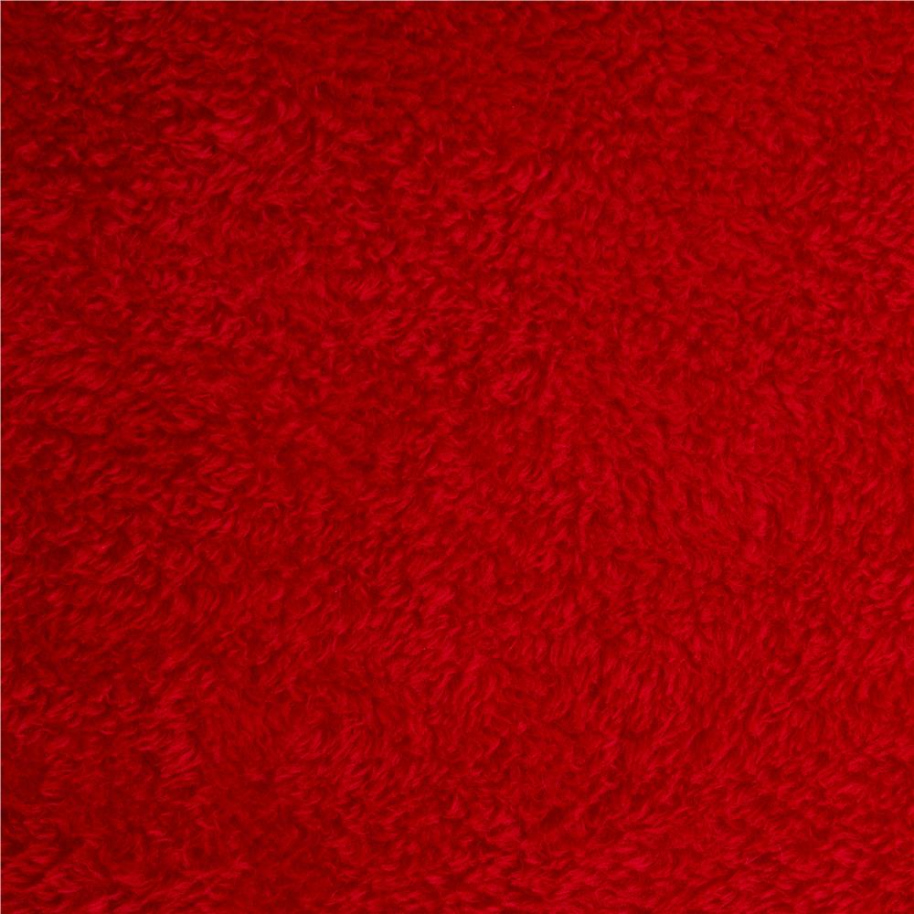 Double-Sided Minky Fleece Red