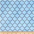 Minky Cuddle Romance Lattice Dusty Blue