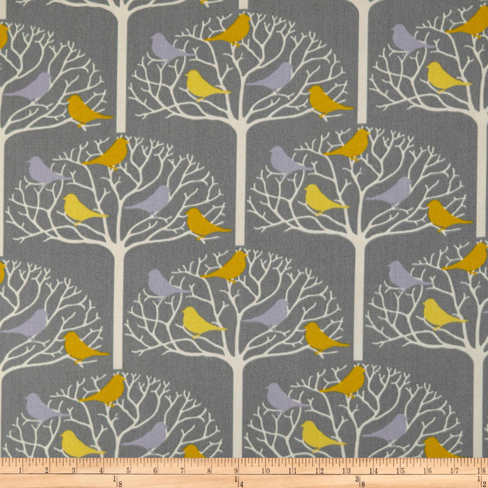 Suburban Home Indoor/Outdoor Birdtree Grey Fabric