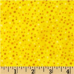 Essentials Flannel Petite Dots Yellow