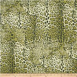 Stretch ITY Jersey Knit Animal Skin Lime