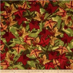 WinterFleece Foliage Orange/Red Fabric