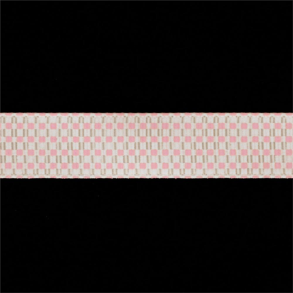 "Riley Blake 5/8"" Grosgrain Ribbon Gingham Pink"