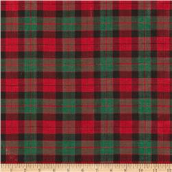 Holiday Blitz Medium Plaid Black/Red/Green Fabric