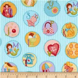 Curiosities Flannel Cameos Aqua Sea