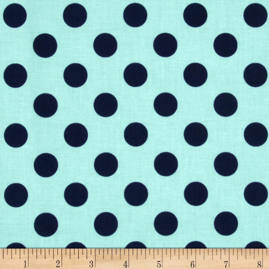 Riley Blake Medium Dots Tone on Tone Navy