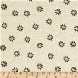 Bohemian Chic Small Tossed Floral Cream