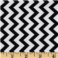 Chevron Chic Simple Chevron Black