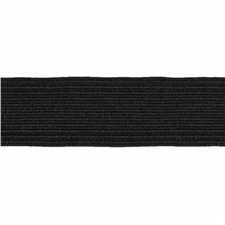 3/4'' Braided Elastic Black - By the Yard