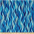 Kanvas Dance Of The Dragonfly Metallic Dancing Waves Azure Blue